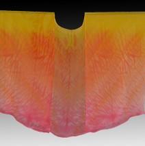 Fire Shibori Dyed Silk Kimono Jacket