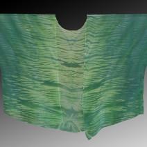 Green Shibori Dyed Silk Kimono Jacket