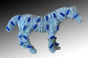 Horses with attitude... pin -  light blue