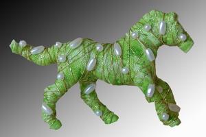 Horses with attitude... pin -  light green