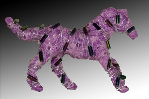Horses with attitude... pin -  purple
