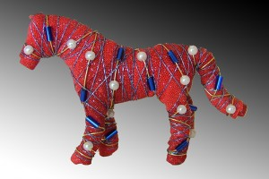 Horses with attitude... pin - red