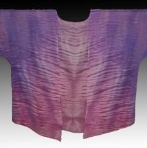 Purple Shibori Dyed Silk Kimono Jacket