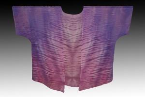 Purple-Shibori-dyed-silk-kimono-jacket_-Pamela-Mattei_-DyeSi